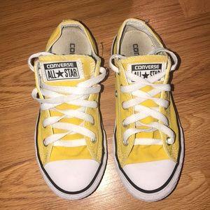 Yellow Little Girls Converse